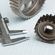Gears and caliper - Foto de Stock