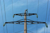 High voltage power pole — Стоковое фото