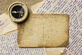 复古明信片和信件 — 图库照片