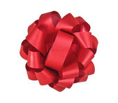 Red bow isolated on white — Stock Photo