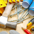 Vertical composition of construction tools — Stock Photo #11520967
