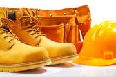 Belt boots hardhat — Stock Photo