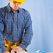 Copyspace carpenter in work — Stock Photo