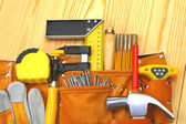 Set of carpentry tools — Stock Photo
