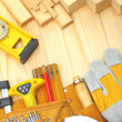 Stock Photo: Construction tools and materials