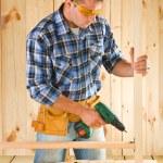 Carpenter in work — Stock Photo #12195768