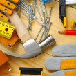 Carpentry tools set — Stock Photo #12195867
