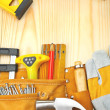 Stock Photo: Composition of building tools