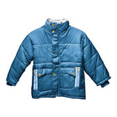 Children's blue parka — Foto Stock