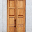 Stock Photo: Old wooden door
