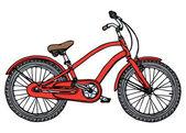 Alten fahrrad - stilisierte vektor-illustration — Stockvektor