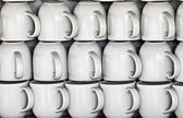 Ceramic cups on market stall — Stock Photo