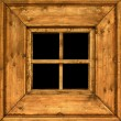 Stock Photo: Old wooden rural window frame