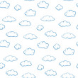 Clouds on white background - seamless vector texture — Stock Vector