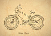 Vintage bicycle - vector in retro style — Stock Vector