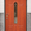 Stock Photo: Brown front door - entrance to the building