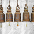 Bells in a Buddhist temple — Stock Photo