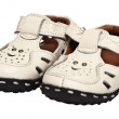 Kids sandals made ​​of leather — Stock Photo