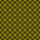 Vector texture - yellow elements on a black — Stock Vector