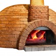 Old bread oven isolated on white background — Stock Photo
