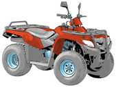 Quad bike - vector — Stock Vector