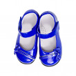 Blue shoes for a child — Stock Photo