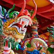 Dragon - statue in a Chinese temple — Stock Photo