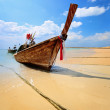 Royalty-Free Stock Photo: Traditional Thai longtail boat on beach
