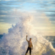 Man like a god of the sea - Stock Photo