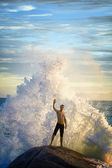 Man like a god of the sea — Stock Photo