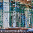 Stock Photo: Under construction reinforced concrete buildings