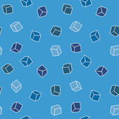 Simple vector background - cubes in blue — Stock Vector
