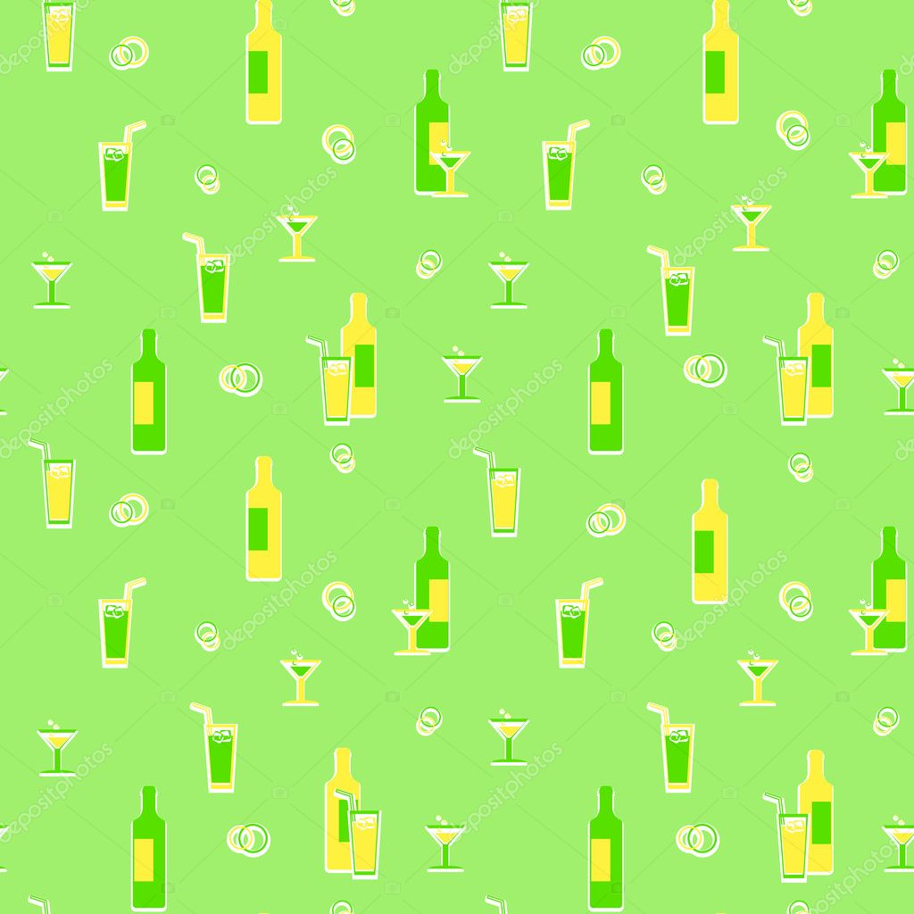 Beverages wrapping paper - seamless vector background — Stock Vector #11831842