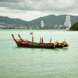 Stock Photo: Thai longtail boats near Patong. Thailand