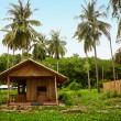 Bamboo Hut in the old Thai village - Stock Photo