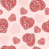 векторные иллюстрации шаблон бесшовные сердца. — Cтоковый вектор