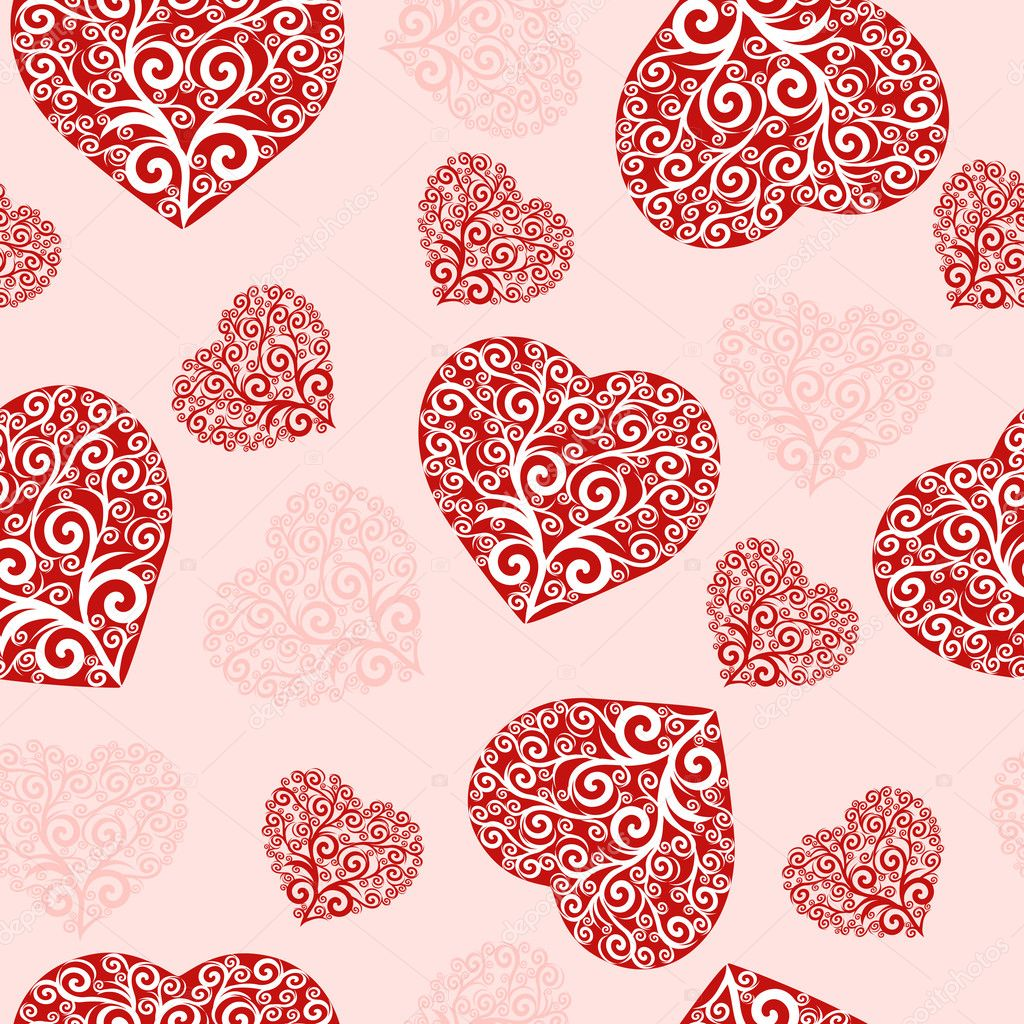 Vector Illustration of a seamless hearts pattern. — Stock Vector #11034679
