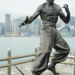 Bruce Lee statue — Stock Photo