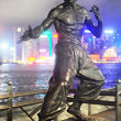 Stock Photo: Bruce Lee statue