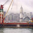 Barge in Hong Kong - Stock Photo