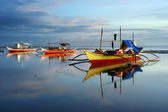 Traditionelle boote in philippinen — Stockfoto