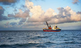 钓鱼船 — 图库照片
