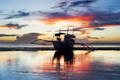 Traditional Philippines boat — Stock Photo