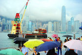 Hong Kong in the rain — Stock Photo