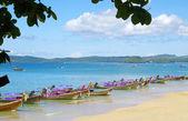 Longtail boats — Stock Photo