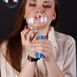 Girl blow bubbles — Stock Photo #10793186