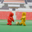 Plasticine . Football scene. — Stock Photo