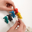 Stock Photo: Plasticine Men.
