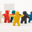 Plasticine Men. — Stockfoto
