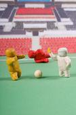 Plasticine . Football scene. — Stock Photo